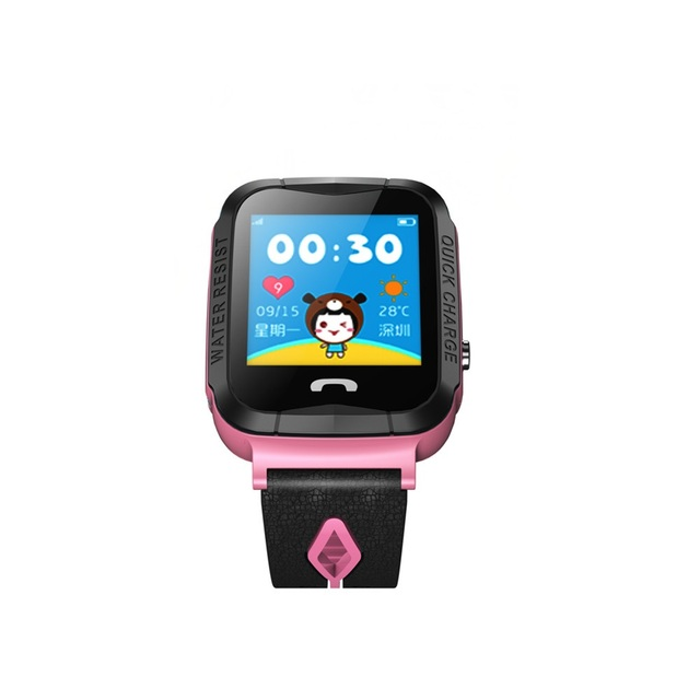 Детские Смарт часы с gps водонепроницаемые фонариком сенсорным