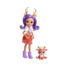 Мини-кукла Enchantimals с любимой зверюшкой, Данесса Оленни и оленёнок Спринт, 15 см