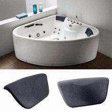 Высокое качество Хорошая цена черная подушка для ванны ванна спа подголовник для шеи поддержка спины Удобная Ванна аксессуары для дома