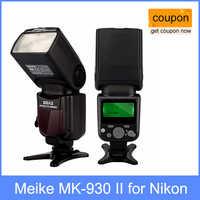 Meike MK-930 II, MK930 Flash Blitzgerät für Nikon D70 D80 D300 D700 D90 D300s D7000 D3200 D800 D800e als Yongnuo YN-560 II YN560