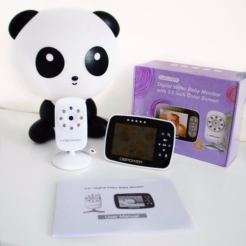 DBPOWER 3.5 inch Baby Monitor 2-way Talk 8 LED IR Camera LCD Screen Crying Feeding Alarm Babyfoon with Temperature Night Sensor