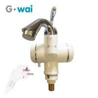 GWAI Elektrische Durchlauferhitzer Digitale Thermostat Durchlauferhitzer Mit Lcd temperaturanzeige Warmwasserbereitung Hahn DRS X30D2 hot water faucet heating faucetinstant hot water faucet -