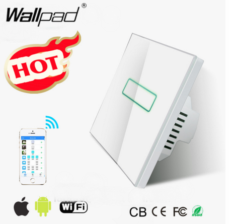 NEW Wallpad White Glass WIFI LED Light EU UK 110~220V Intelligent LED 2.4 Ghz Wifi directly Control Wall Light Switch IOS Androd детская игрушка new wifi ios