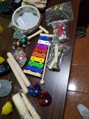 Instrumento musical de brinquedo instrumentos criança xilofone