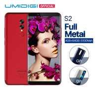 UMIDIGI S2 Full Screen Handy 5100mAh 4GB + 64GB 13,0 MP Kamera Gesicht ID Touchscreen Android 6,0 4G LTE Smartphone