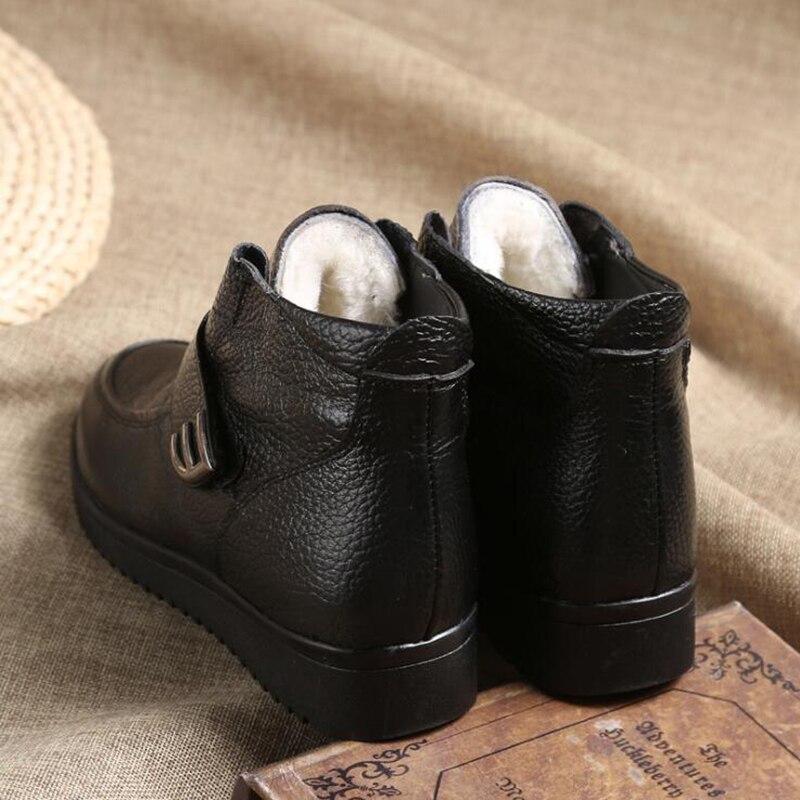 Planas Negro Edad Calidad Madre Mujer Zapato Botas Bota Caliente De Mujeres Impermeables Mediana Mm116 Corta Simple Moda Antideslizantes Alta Las Zapatos X0xzR0