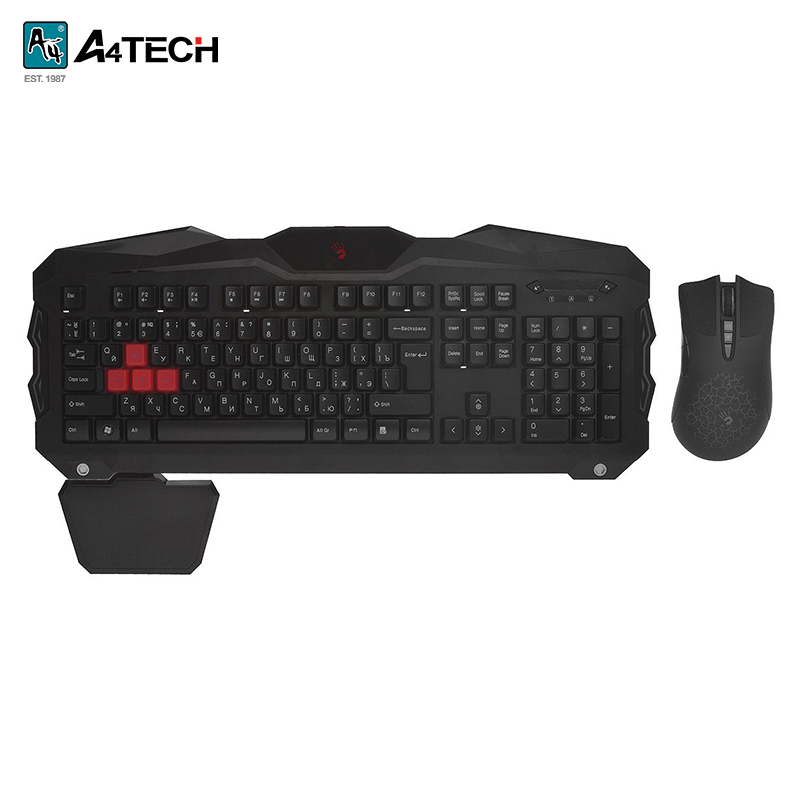 Gaming set keyboard + mouse A4Tech Bloody Q2100/B2100 Officeacc gaming keyboard a4tech bloody b254 officeacc