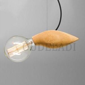 Image 4 - الحديثة خمر خشب متين صغيرة قلادة على شكل طير أضواء زينت مطعم مقهى بار مصابيح مع E27