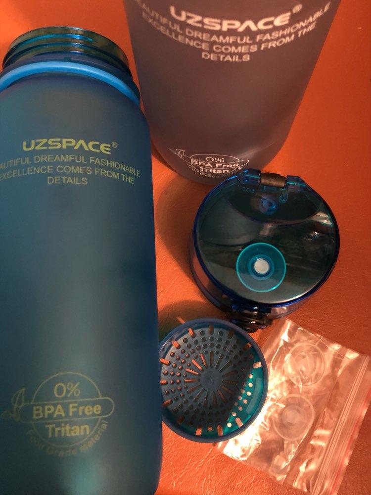2016 Новый Настоящее Белка Uzspace Портативный Motion Моя Бутылка Воды tritan Bpa Бесплатно Пластиковый Стаканчик Для Спорта Отдых На Природе 350/500/650/1000 мл