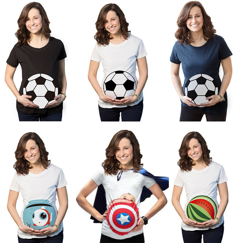 Funnny Pregnant Maternity Mother Women Summer T Shirts Pregnant Mom Cute Shirt Funny Pregnancy Tshirt T-shirt Clothes Plus Size цены