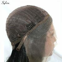 Сильвия натуральный волос волна воды персик розовый ручной синтетический фронтальной искусственные парики шнурка для вечерние и