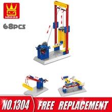 WANGE 68 pcs Tijolos 3 EM 1 Blocos de Engenharia Mecânica Elevador Artes DIY Blocos de Construção Crianças Brinquedos Educativos Crianças Presentes