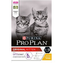 Сухой корм Purina Pro Plan для котят от 1 до 12 месяцев , с курицей, 4 упаковки по 3 кг