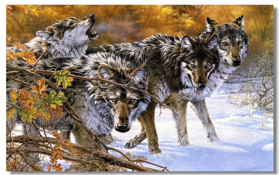 Обои На Стол Волки