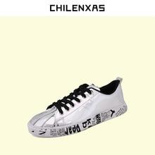 CHILENXAS 2017 весна осень большой размер легкая дышащая кожа обувь мужчин повседневная новая мода удобные любителей шнуровке