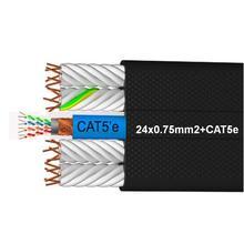 24X075+ CAT5e ПВХ плоский гибкий кабель лифта