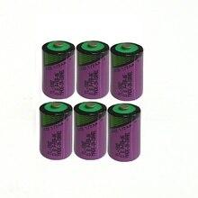 6 pçs/lote Nova alta qualidade TL-5902 1/2AA ER14250 SL350 3.6 v 1/2 AA bateria de lítio do PLC