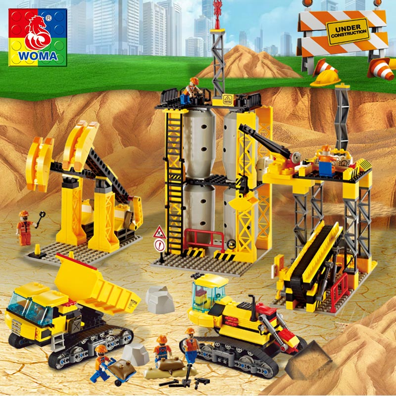 WOMA Engineering Architecture Education Model Urban Engineering Vehicles Building Blocks Children Toys Compatible with Legoe woma engineering architecture education model urban engineering vehicles building blocks children toys compatible with legoe