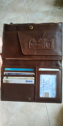 KAVIS Rfid Genuine Leather Passport Cover ID Card Holder Travel Credit Wallet  Men Purse Driving License Bag Male Portomonee photo review