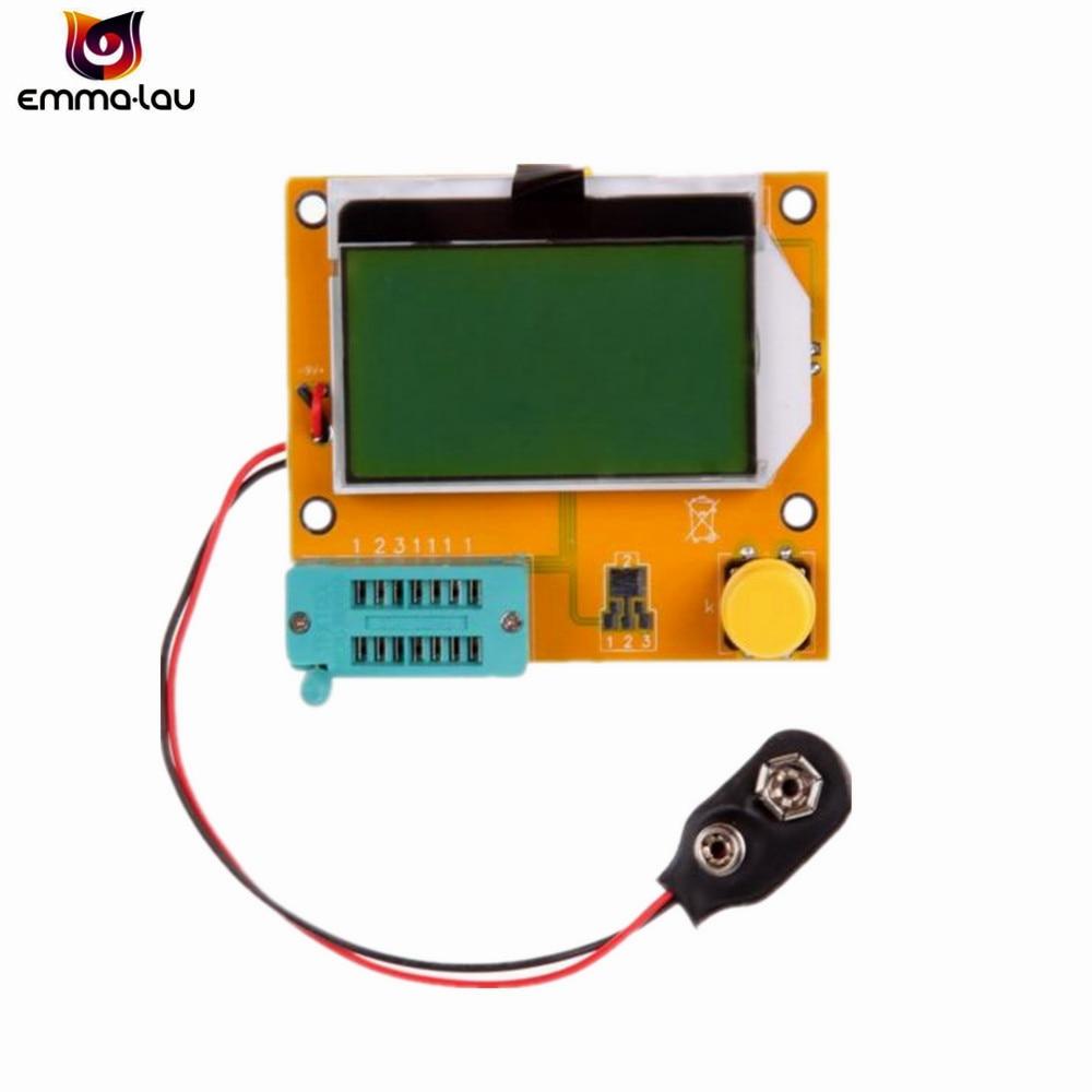 Nuevo LCR-T4 ESR Metro Transistor Tester Digital Mega328 M328 Lcr de triodo capacitancia prueba Muiltmeter ESR MOS/PNP/NPN L/C/R