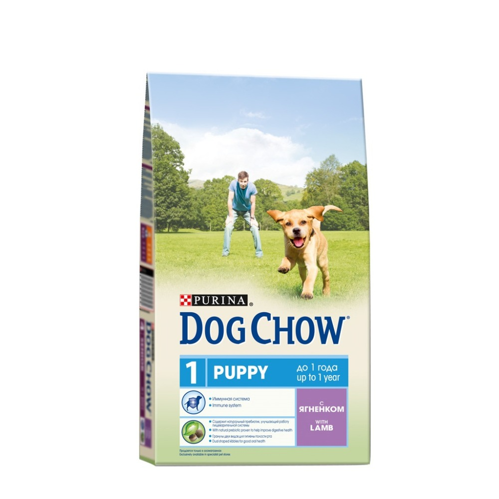 Dog Chow dry food for puppies up to 1 year old with a lamb, 6.4 kg.