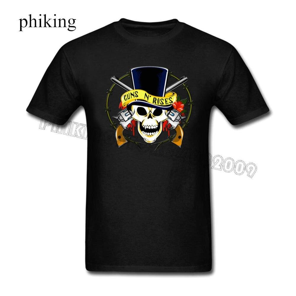 Clothing Plus Size S M L Xl XXl guns_n_roses_ Short Men Crew Neck Christmas Shirt