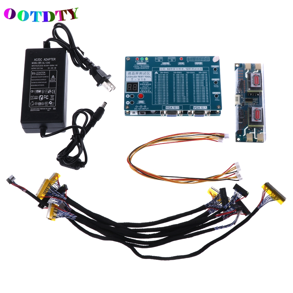 OOTDTY Laptop TV LCD LED Test Tool Panel Tester Support 7 -84 Inch LVDS 6 Screen Line стоимость