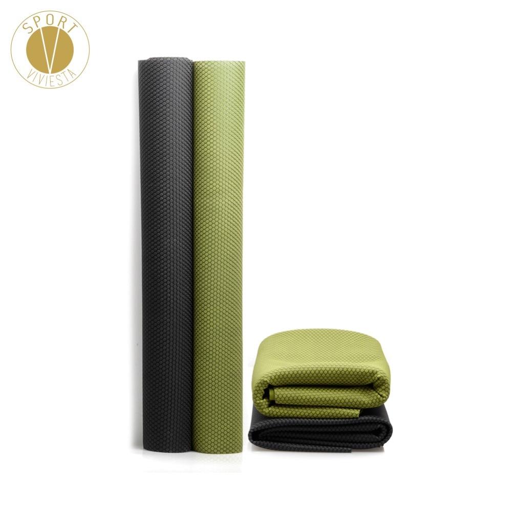 Dashing 1.5mm Natural Rubber Foldable Travel Yoga Mat Eco Friendly Portable Folding Pilates Workout Exercise Fitness Non-slip Grip Mat