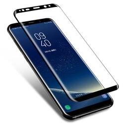 S9 S8 플러스 필름 강화 유리 화면 보호기 전체 커버 삼성 갤럭시 S 9 8 Note8 S7edge W2018 강화 유리 필름