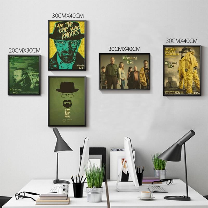 Breaking Bad Плакаты фильм Плакаты Винтаж kraft Бумага ретро настенные Стикеры Домашний Декор