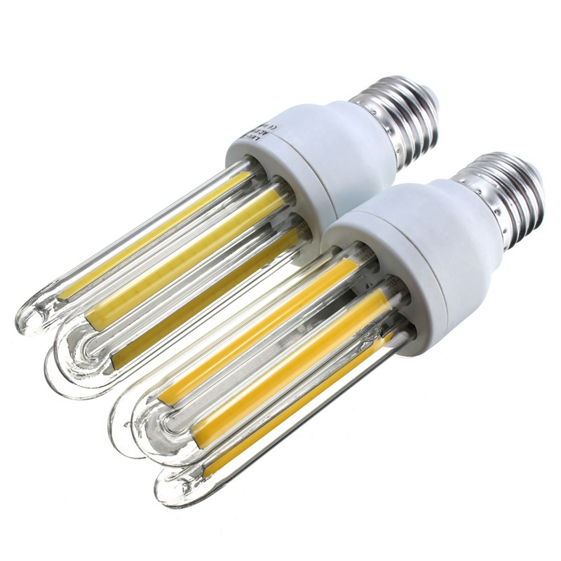 Energy Saving U Shape 9W COB LED Lamp Bulb E27 Corn LED Light Bulb 85-265V LED Lights Lighting Cold Warm White enwye e14 led candle energy crystal lamp saving lamp light bulb home lighting decoration led lamp 5w 7w 220v 230v 240v smd2835