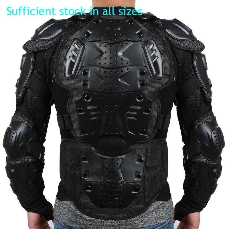 Chaqueta de la motocicleta de armadura de cuerpo completo motocross Racing Pit Bike pecho equipo protector hombro mano protección conjunta S-XXXL