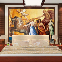 Vintage Wallpapers 3D Stereoscopic World Famous Oil Paintings Murals Ancient Roman Wallpapers Art Wall Papers For