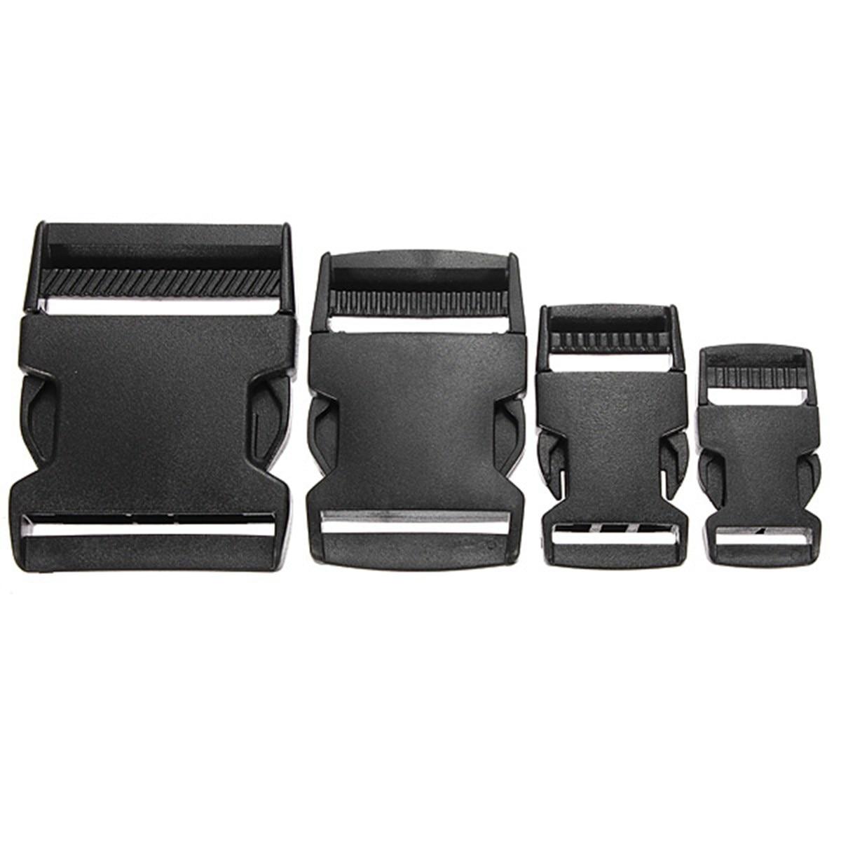 цена на Osmond 1PCS 25/40/50mm Black Plastic Side Quick Release Clasp Buckles Webbing Strap Useful Bag Accessories Parts For Wholesale