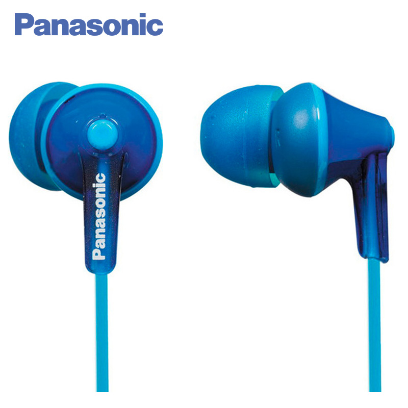 Panasonic RP-HJE125E-A In-ear earphone wired, headset fone. lanvein stereo bass headphones in ear earphone noodles headset music fone de ouvido with microphone for iphone xiaomi sony phone