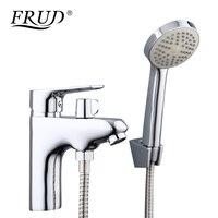 FRUD New Arrival 1 Set Bathroom Water Mixer With Hand Shower Head Toilet Water Basin Sink