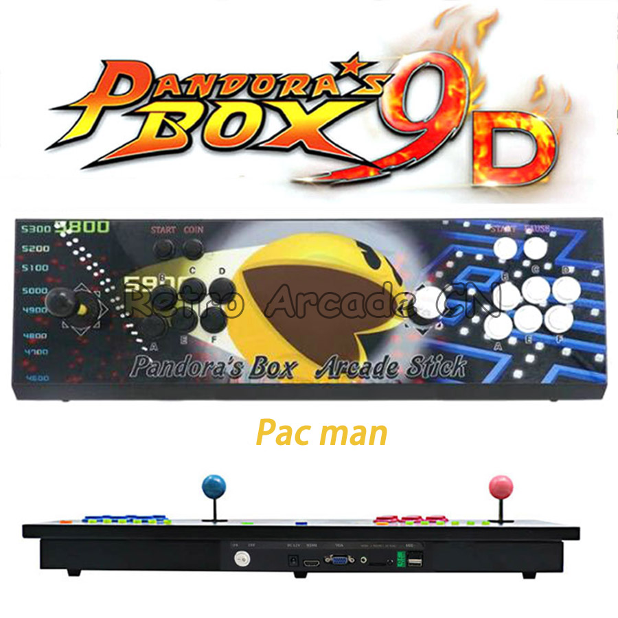 Pandora box 9d 1500 / 2222 in 1 console 2 players joystick button HDMI VGA output HD usb for pc ps3 pandoras box 5s 6s 7Pandora box 9d 1500 / 2222 in 1 console 2 players joystick button HDMI VGA output HD usb for pc ps3 pandoras box 5s 6s 7