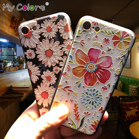 My Colors Embossed 3D Phone Case For Iphone 7 7 Plus Case Protective Cover Mobile Phone