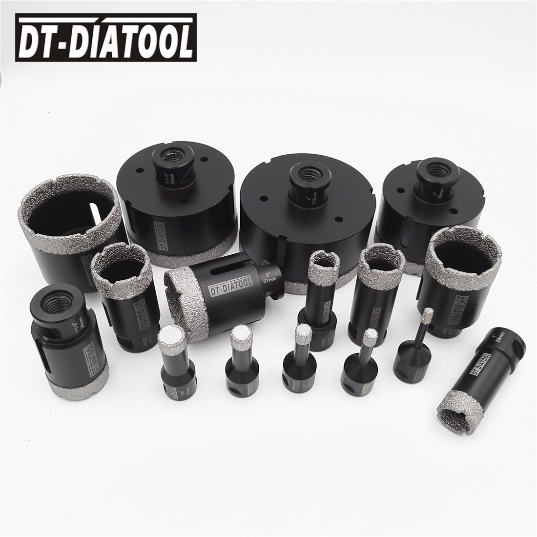 Vacuum Brazed Diamond Dry Drill core Bits 5/8-11 Thread Drilling bits hole saw Diameter 6mm to 102MM for tile marble granite diatool 5pcs set vacuum brazed diamond drill core bits with 15mm teeth 20 32 45 55 68mm hole saw granite marble ceramic tile