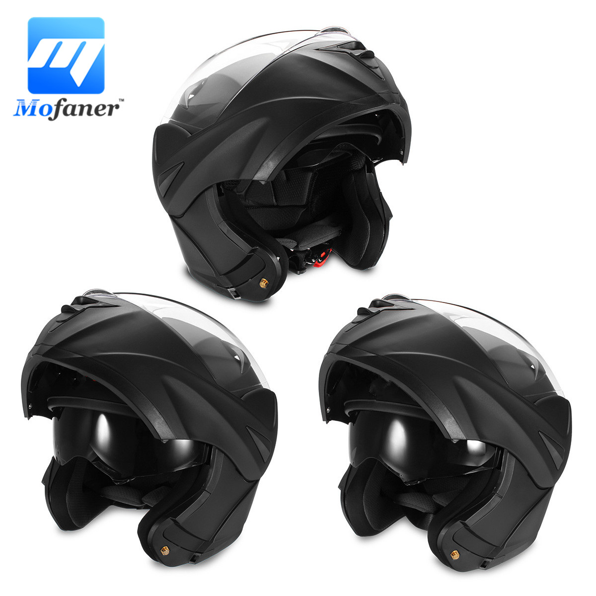 Mofaner 1Piece Motorcycle Modular Helmet Full Face Open Double Lens Dual Visor Safety Motocross Helmets 2017 new yohe full face motorcycle helmet yh 993 full cover motorbike helmets made of abs and pc visor lens have 5 kinds colors