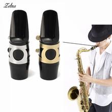 Zebra 1 sztuk saksofon altowy saksofon ustnik z klamry Reed podkładki do łatek poduszki srebrny złoty saksofon altowy ustnik tanie tanio Saxophone Mouthpiece