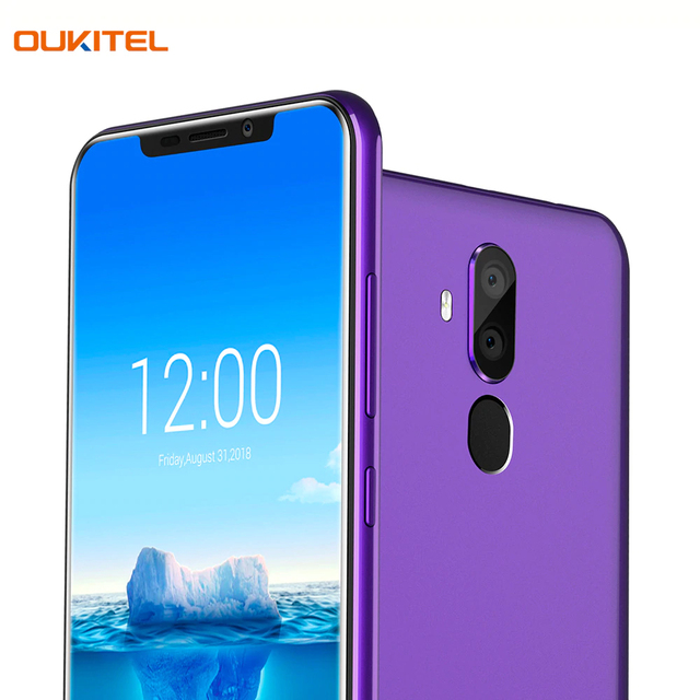 Смартфон OUKITEL C12PlusPurple отличная двойная камера 8+2Мп, сканер отпечатка пальца и функция распознавания лица - Face ID Unlock