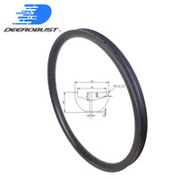 Mountain Bike Carbon Rims 25mm x 42mm DH Downhill Bicycle Wheel MTB Rim 29er 27.5er 650B Hookless Tubeless Clincher 36 36 holes