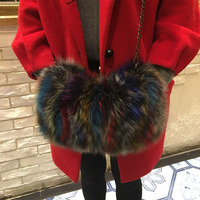 Real Fox Fur Women hand Warmer For 2018 Winter New Arrival Ladies Genuine Fur Hand Warmers Can used As Hand Bag