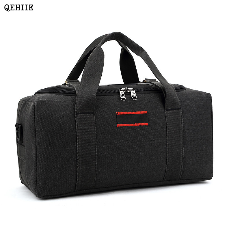 36-42L QEHIIE Fashion Brand Mens Travel Bags Folding Large Capacity Canvas Waterproof Woman Bag Organizer Essential Duffle bag ...