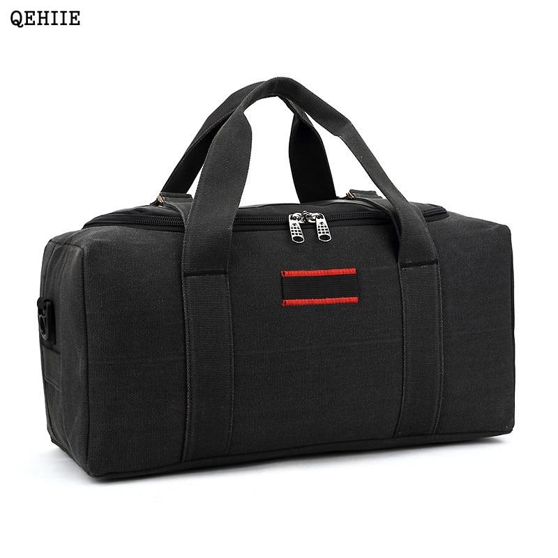 36-42L QEHIIE Fashion Brand Mens Travel Bags Folding Large Capacity Canvas Waterproof Woman Bag Organizer Essential Duffle bag