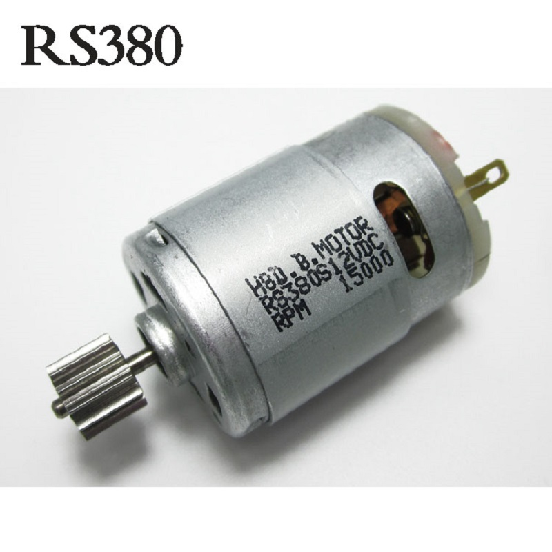 RS380 with gear electric car remote control toy DC drive motor / electric car motorcycle small motor 12V dc motor 12v for children electric car rc car dc engine 6v baby car electric engine rs550 motor with 12 teeth and 8 teeth gear