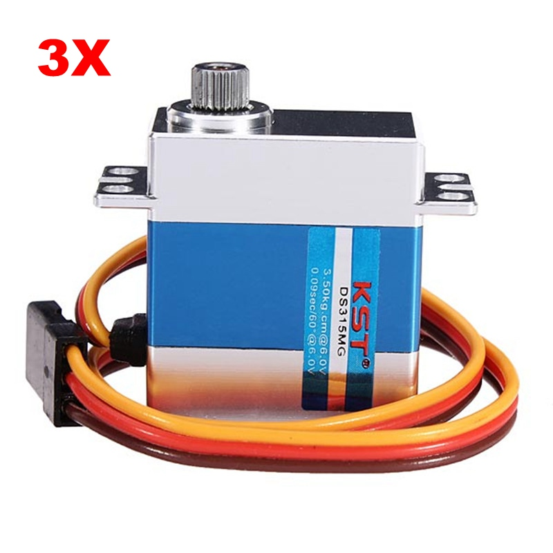 цена на High Quality KST DS315MG Metal Digital Swash Plate Servo For 450 RC Helicopter Airplane Aircraft Accessories