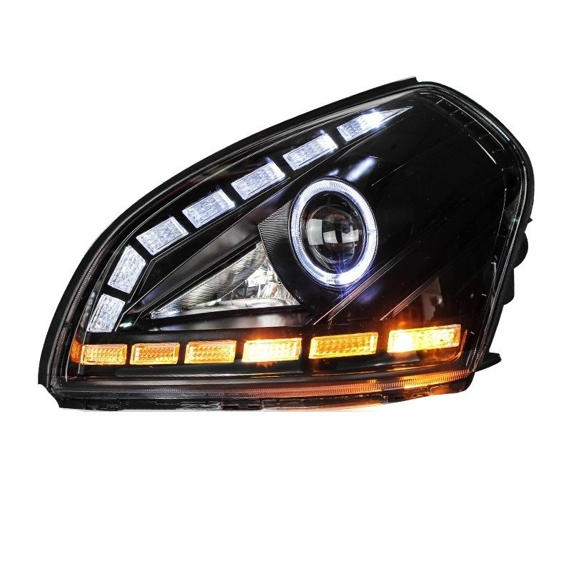 все цены на Rear Headlights Daytime Running Side Turn Signal Automobiles Lamp Neblineros Para Auto Styling Car Led Lights For Hyundai Tucson