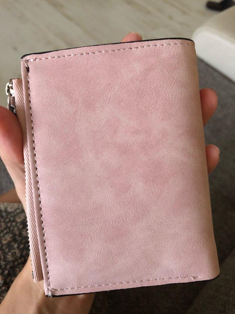 Retro Matte Women Wallet Fashion PU Leather Short Women Wallets Zipper Handbags Small Female Purse Coin Card Holder Money Bag photo review